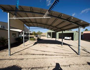 front Curved Roof Carports 182