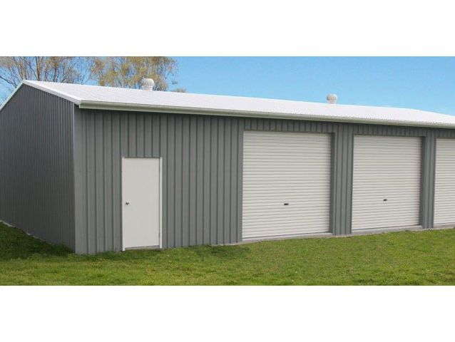 Gable Garages   Garage With 3 Roller Doors And Workshop Opt